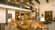 Interior using reclaimed barn wood by Dakan Enterprises.